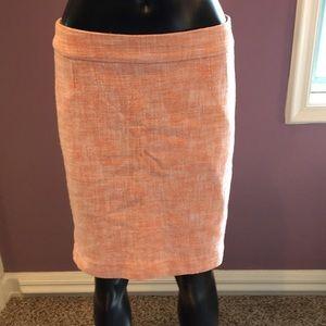 Banana Republic Orange and White Tweed Skirt